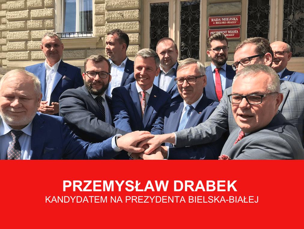 Jedyny kandydat na prezydenta Bielska-Białej – Przemysław Drabek